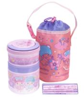 Little Twin Stars Vacuum Food Jar W/ Chopsticks & Pouch 真空保溫飯壺連筷子及飯壺套
