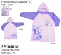 Disney Frozen 冰 魔雪奇緣 Elsa Anna 兒童雨衣 雨具 100cm/3-4yrs_180617