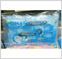 廚房用品/用具-㊣Thomas & Friends 托馬斯火車 兒童餐具袋套裝 塑膠叉匙羮安全食物剪刀_2187