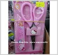 ㊣2015 開學用品 Sanrio Hello Kitty 兒童 小朋友 安全較剪 剪刀 連套2740