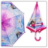 韓國 Disney Frozen 魔 冰雪奇緣  Elsa Anna 兒童 半透明 直雨傘 雨具 40cm_3041