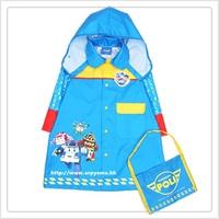 韓國進口 Robocar Poli 救援小英雄 波力 兒童雨衣 雨褸 雨具 大中小碼3038