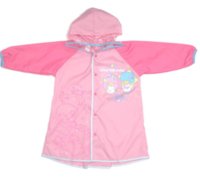 Sanrio Little Twin Stars Kids可摺式雨衣-大/細碼 Foldable Raincoat (L Size) 小童書包位可折式-0717