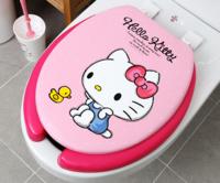 ㊣韓國 Sanrio Hello Kitty 軟墊坐廁板 廁所板465/445/365mm 18517