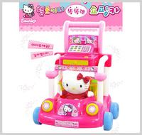 [訂貨區] ㊣韓國 Sanrio Hello Kitty 兒童購物收銀豬仔車 學步車 學行車 手推車玩具__店取-HK$10