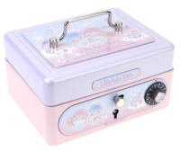 Sanrio Little Twin Stars Metal Cash Box with Dial Lock & Key (S) 夾萬連密碼鎖及鎖匙031017