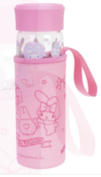 My Melody 400ML Glass Water Bottle With Tea Filter & Pouch 耐熱玻璃水樽連不銹鋼茶隔及隔熱袋