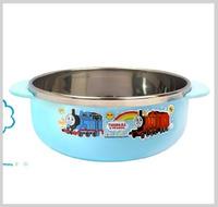 ㊣韓國Thomas & Friends 兒童不銹鋼餐具 保溫碗 保温飯碗 雙耳碗1070_2138