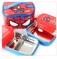 正韓國 SPIDER MAN 蜘蛛俠兩個庄鋼飯合連保溫飯套14517