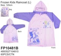 Disney Frozen 冰 魔雪奇緣 Elsa Anna 兒童雨衣 雨具 120cm/5-7yrs_180617