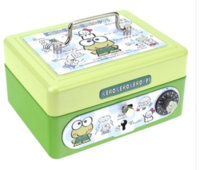 Sanrio Kerokerokeroppi Metal Cash Box with Dial Lock & Key (S) 夾萬連密碼鎖及鎖匙031017
