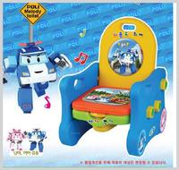 韓國 Robocar Poli 波力 Mark 救援小英雄 兒童靠背膠椅 櫈仔連坐便器 座便廁所_3271