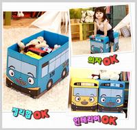 訂貨區㊣韓國 Tayo The Little Bus 玩具收納箱 儲物凳1969