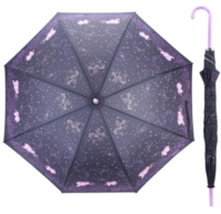 Little Twin Stars 60CM x 8 Ribs Auto-Open Straight Umbrella 膠手柄自動直身雨傘