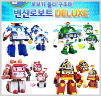 ㊣韓國 Robocar Poli 波力 救援小英雄 變身玩具車閃燈機械人Deluxe2535