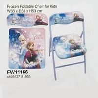 Disney Frozen 冰 魔雪奇緣 Elsa Anna 兒童枱櫈 安全鎖摺椅 餐椅 櫈仔_店取95折