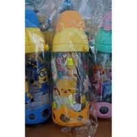 正品 Disney Tsum Tsum 迪士尼 Pooh 背帶軟飲管冷熱水樽 450ml 兒童用品_ 19042018