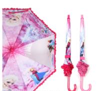 韓國 Disney Frozen 魔 冰雪奇緣 Elsa Anna 兒童 半透明 直雨傘 雨具 53cm 220717