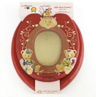 ㊣韓國造 BEAR FAMILY子母廁所板 成人廁板+兒童軟墊學習坐廁板二合一_藍色_店取95折