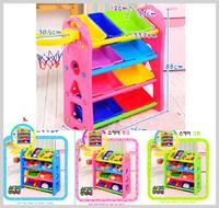 [訂貨區] 正品 韓國 兒童 玩具 收納 盒 儲物箱 4層雜物 連藍球架 6030_____店取-HK$10 家居用品