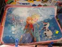 Disney Frozen 冰 魔雪奇緣 Elsa Anna兒童 學生 摺合餐檯墊(W32 X H40CM)