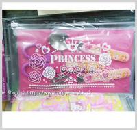 廚房用品/用具-㊣Disney Princess 公主 兒童餐具套裝袋 膠柄不繡鋼叉匙羮安全食物剪刀_2190