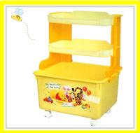 ㊣日本 Disney Winnie The Pooh 小熊維尼 儲物架 儲物櫃 雜物架 玩具箱 (店取 -$10)