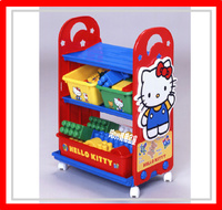 ㊣日本 Sanrio Hello Kitty 吉蒂貓 玩具架 玩具箱 儲物架 儲物櫃 雜物架 收納 *即送廸士尼廢紙箱* ※店取-$10