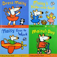 #1870 Maisy小鼠波波貼紙故事書,課外書,貼紙書,1套4本