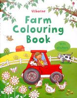 #1510 Usborne 填色+貼紙練習 Farm Colouring Book【填色畫冊】