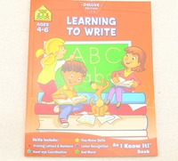 #1664 School Zone, Learning to write Ages 4-6, 寫大小字母練習