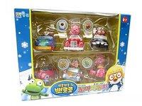 #799  韓國Pororo & friends迷你卡通回力車(禮盒裝1套6架), 益智玩具