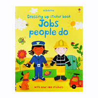 #1988 Usborne Dressing up sticker book Jobs people do ,好玩實用貼紙書/課外書
