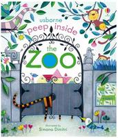 #1873 Usborne peep inside the Zoo /揭揭書/洞洞書/英文圖書/課外書/硬皮書