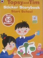 #1690 Ladybird 貼紙故事書,Topsy and Tim Start School,英文圖書【課外書】