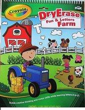 #989 Dry Erase Fun & Letters Farm 學前練習 ,可反復書寫 778