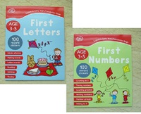 #1860 Chad Valley First Numbers ,First Letters Ages 3-5 1套2本練習冊+貼紙【課外書】