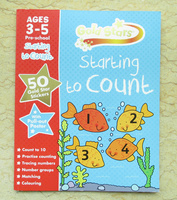 #1254 Gold Stars 數學練習冊 Ages 3-5 Starting to Count , 補充練習
