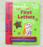 #1645 Gold Stars First Letters Pre-School ,認識 A-Z , 可反復書寫