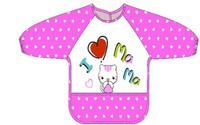 #1708 兒童防水飯衣,勞作衣,I Love Ma Ma 紫色