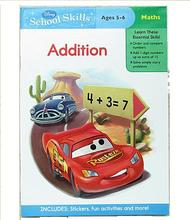 #1184 Disney School Skills 數學練習冊 Addition Ages 5-6 (車王封面)