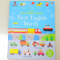 #1887 Usborne First Sticker Book , First English Words/貼紙書/課外書/英文單詞