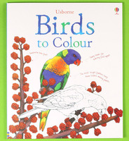 #1879 【推介】Usborne Birds to Colour ,填色畫冊