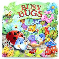 #1683 便攜版,超靚可愛英文鏤空洞洞書,撕不爛紙板書,Busy Bugs