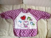 *微瑕疵*兒童飯衣(紫色) $12/1件 包郵