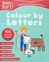 #1529 Best Start Colour by Letters字母填色練習附貼紙
