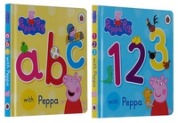 #1791 Peppa Pig ABC , 123 with Peppa , 1套2本 , 紙板撕不爛
