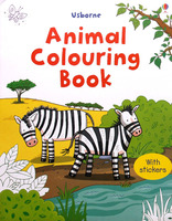 #1509 Usborne 填色+貼紙練習 Animals Colouring Book【填色畫冊】