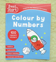 #1530 Best Start Colour by Numbers數字填色練習附貼紙