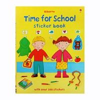 #1987 Usborne Time for School sticker book ,好玩實用貼紙書/課外書